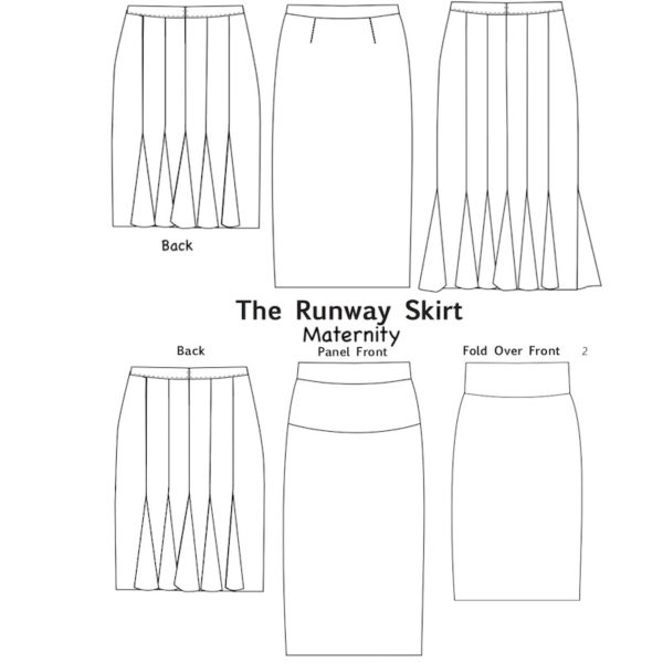Darcy Runway Skirt - Savvy Patterns - on Maternity Sewing