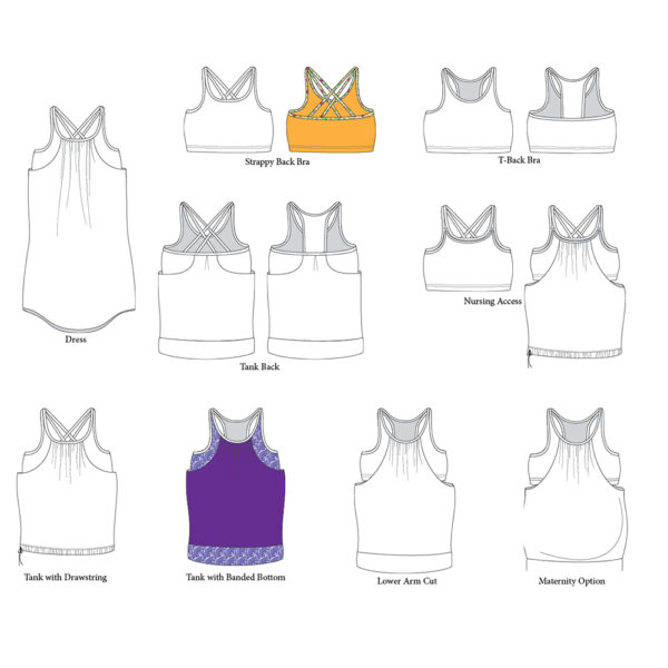 5oo4 - Agility Overlay Tank on MaternitySewing.com