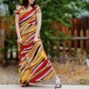 Golden Rippy - Cinnabar Sky - on Maternity Sewing