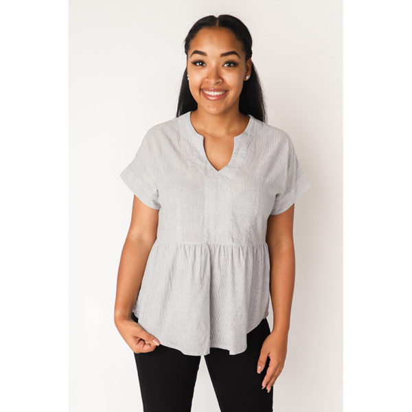 Fringe Blouse by Chalk & Notch - on MaternitySewing.com
