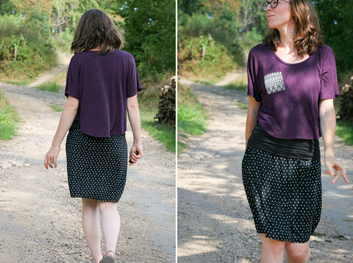 Maternity Style - Ultraviolet Tee - on MaternitySewing.com