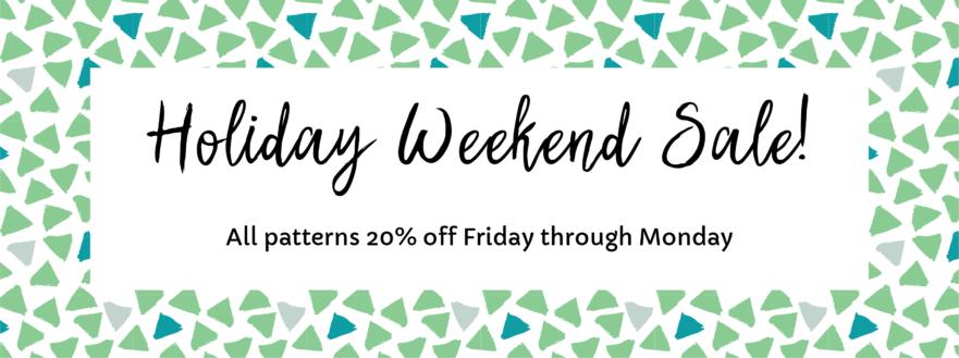 Holiday Weekend Sale 2018