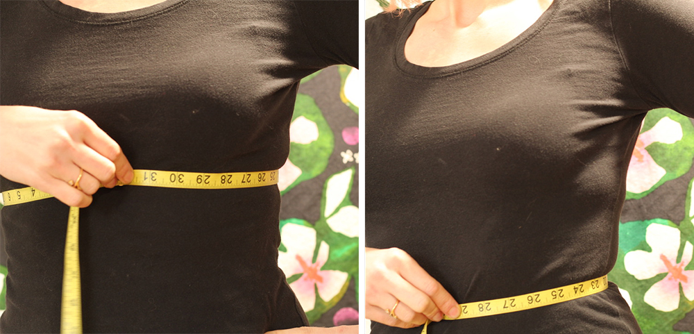 measuring underbust and waist